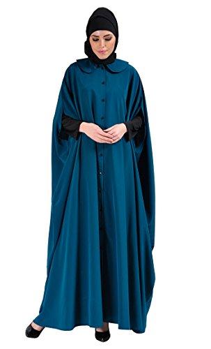 East Essence - Robe - Solid - Femme Bleu - Bleu-vert