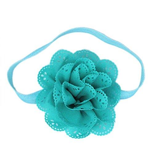Stirnbänder Longra Baby Mädchen Blumen Haarblüte Stirnband Kopfband Haarschmuck Haarband Haargummi (Sky Blue) (Kopfband Kit)