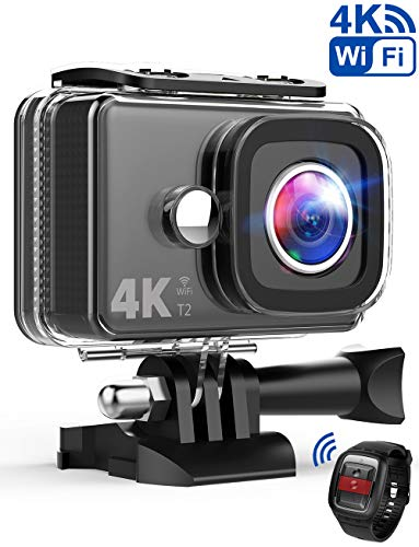 TEC.BEAN Action Cam 14MP Wi-Fi 4K Ultra-HD Action Camera, Telecamera Sport Impermeabile Fino a 45m,...