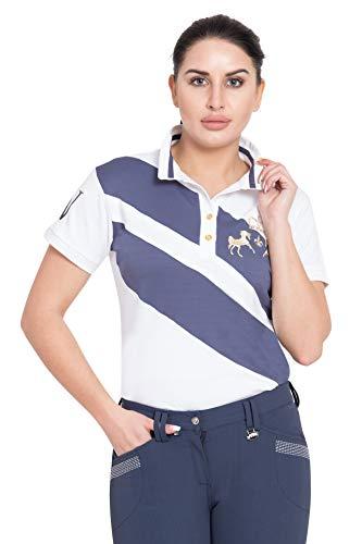 Equine Couture Damen Poloshirt X-Press, kurzärmlig - Blau - Medium