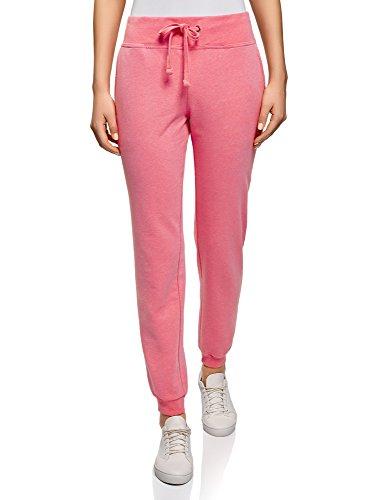 oodji Ultra Damen Jersey-Hose im Sport-Stil, Rosa, DE 38 / EU 40 / M