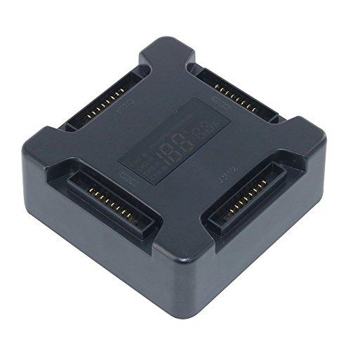 PENIVO Cargador de batería de 4 puertos Mavic Hub, batería de Drone Adaptador de placa de carga paralela con pantalla digital para DJI Mavic Pro Drone Quadcopter