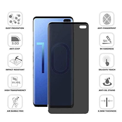 2er-Pack Sichtschutz Displayschutzfolie für Samsung Galaxy S10 Plus, Anti-Spy/Anti-Glare, Anti-Kratzer Schutzfolie für Samsung Galaxy S10 Plus 2019 (2er-Pack) - Samsung 2er-pack