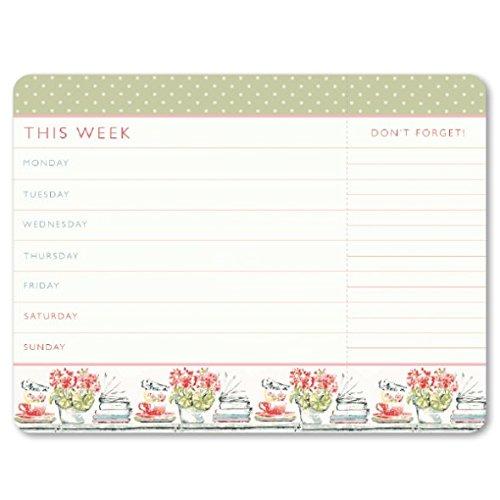 Laura Ashley-Planner settimanale strappo questa settimana/Note (c15070)