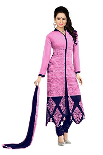 Designer Light pink Colour Partywear Unstitched Dress Material With Embroidered Work MFD-13