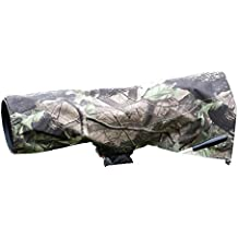 Rainsleeve cover for camera lenses. Medium size in an attractive leaf pattern material