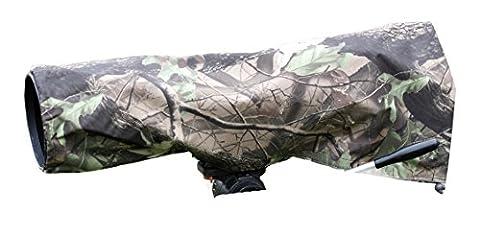 Housse de pluie pour appareils et objectifs. Leaf pattern. De taille moyenne.