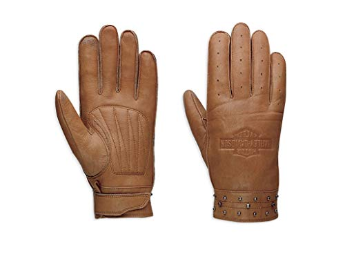 Harley Davidson Calamity Leather Gloves 97373-17VW Donna Accessory marrone 42/44