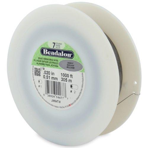 Beadalon Schmuckdraht, 7 Stränge, 0,50 mm, 305 m (Beadalon 7 Strang)