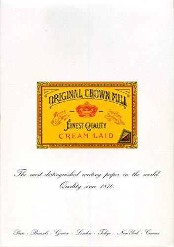 Original Crown Mill, Papel verjurado (50 folios verjurados, A4, 100 g/m²), color blanco