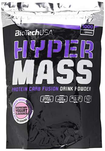 BioTech Hyper Mass Mischung aus Eiweiß, Geschmack Himbeere und Yogur - 1000 g