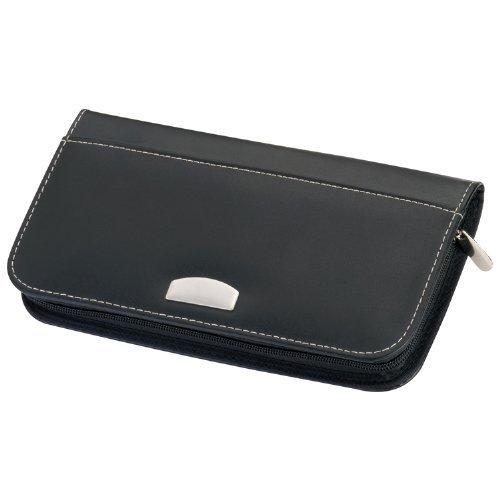 Reisebörse - Ticketbörse (Lederfaserstoff) - 13 x 24,5 x 2,2 cm (Wallet Passport)