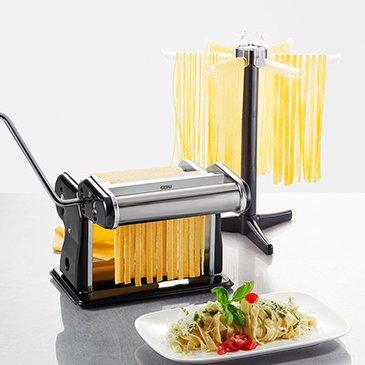 GEFU 00111 Profi-Pastamaschine Pasta PERFETTA Nero + Pastatrockner