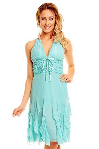 Mayaadi Kleid Ballkleid Abendkleid Partykleid Festkleid Cocktailkleid Eteuikleid HS-310A Aqua M