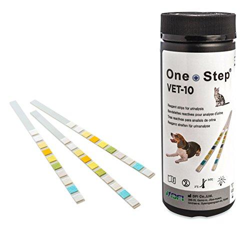 One+Step Gesundheitstest (Urin) für Tiere 50 Stück - Prüfung auf 10 Indikatoren