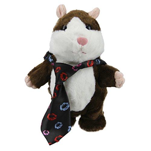 Niedlich Weihnachten Plüsch Nachsprechender Laberhamster Puppe Elektronische Hamster Tier mit Plüsch Tiere mit Ton Aufnahme und Bewegung Spielzeug-beste Geschenk für Kinder (Kostüme Plüsch Kind Pinguin)