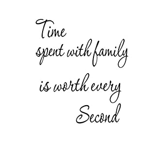 VORCOOL Time Spent with Family is Worth Every Second Wall Stickers Removable Art DIY Sticker Home Decal