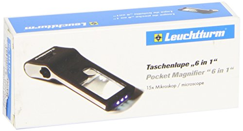 Taschenlupe 6 in 1, inkl. LED-Mikroskop (+50-Fach), mit Beleuchtung - Langwellige Uv-lampe