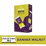 Mettle Banana Walnut Energy Bar, 35gm ( Pack of 12 pc)