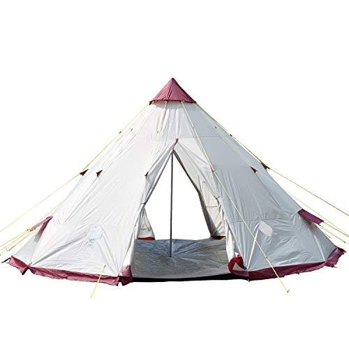 skandika Tipi 250 9-Personen Familienzelt Tipii/Tepee Pyramiden/Indianerzelt, 250 cm Stehhöhe, 3000 mm Wassersäule