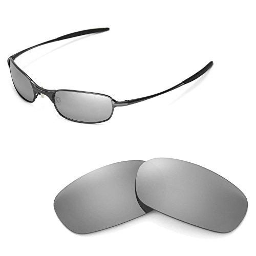 Walleva Ersatzgläser für Oakley Square Wire 2.0 Sonnenbrille - Mehrfache Optionen (Titanium Mirror Coated - Polarisiert)