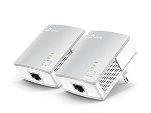 TP-Link TL-PA4010 Powerline Adapter Kit (600 Mbit/s, 10/100Mbit/s-Ethernet-Port, energiesparend, kompatibel zu allen gängigen Powerline Adaptern) weiß