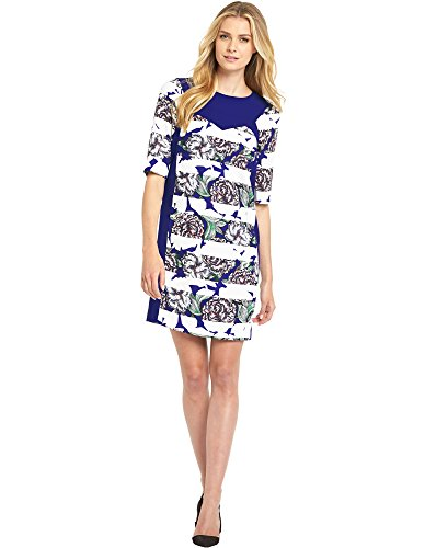 french-connection-womens-dress-10-blue-white