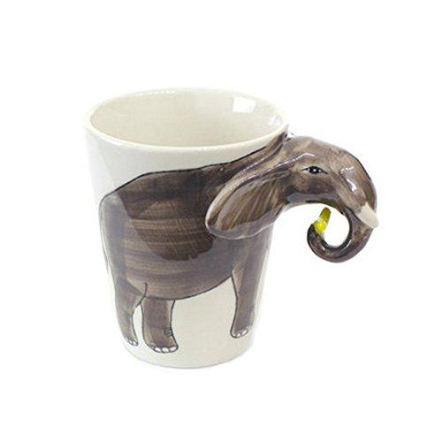 Phoenix Wonder Taza única de cerámica de la Taza de la Leche del café 3D Precioso con la Caja de la Taza del Elefante