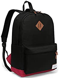 School Backpack, Kasgo Water-Resistant Classic Men's Backpack Fits 15.6 inch Laptop Casual Daypack for Teenagers