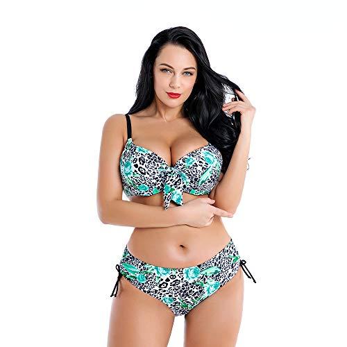 Bañadores de Mujer Talla Grande Sexy Estampada Floral de Traje de Baño de Dos Piezas Bikinis Swimwear...