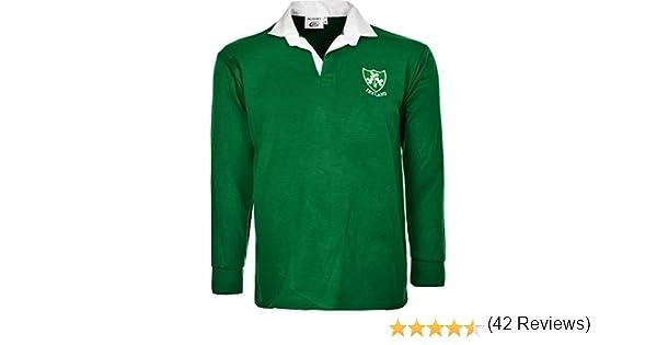 taglie dalla S alla 5XL con maniche lunghe stile retr/ò Active Wear Maglia irlandese da rugby