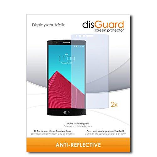 disGuard® Bildschirmschutzfolie [Anti-Reflex] kompatibel mit LG G4 [2 Stück] Entspiegelnd, Matt, Antireflektierend, Extrem Kratzfest, Anti-Fingerabdruck - Panzerglas Folie, Schutzfolie