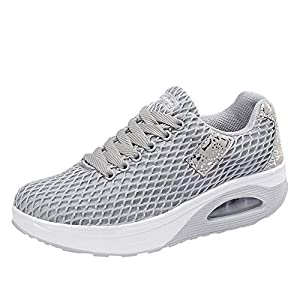 HARRYSTORE Frauen Outdoor Mesh Casual Sportschuhe Dick-Soled Air Cushion Schuhe Turnschuhe
