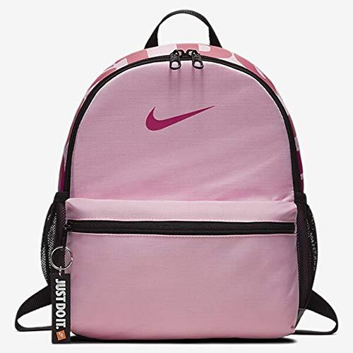 Nike Y NK BRSLA JDI MINI BKPK - Zaini Unisex Bambini, Multicolore (Pink/Black/Rush Pink), 15x24x45 cm (W x H L)