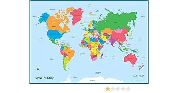 Printable World Map For Kids