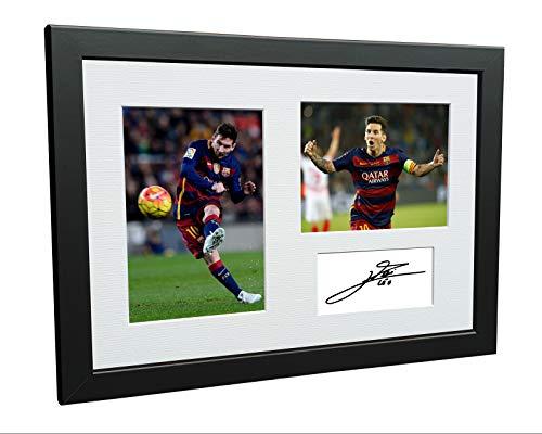 Fotografía enmarcada firmada tamaño A4 Lionel Messi