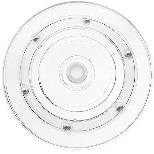 PrimeMatik - Base giratoria Manual de 15 cm. Plataforma Rotatoria Transparente