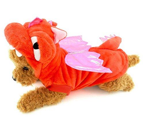 zunea Kleiner Hund Katze unter 20Pfund Halloween-Kostüm Pullover Jacke Wrap Kleidung