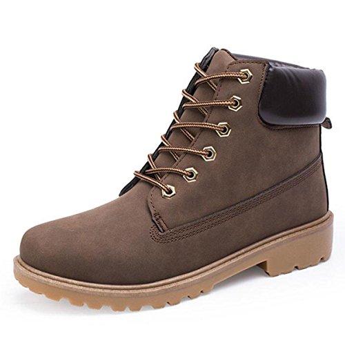 British Martin Stivali Boots Boots Stivali Uomo Casual Stivali Alto Gang Collezione Autunno Inverno brown
