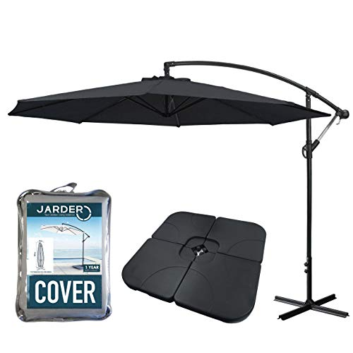 Clever Offset Parasol Cover With Waterproof Zipper Waterproof Fabric Garden Patio Umbrella Cover Supplies 280 265 190 Cm Patio Umbrellas & Bases Furniture