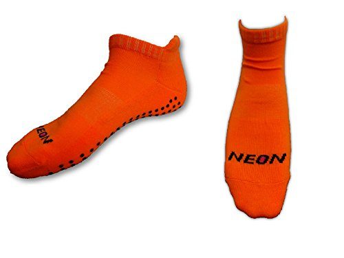 "socquettes semelle antidérapante ""grip"" sport yoga pilates (EUR 36/39, orange fluo)"