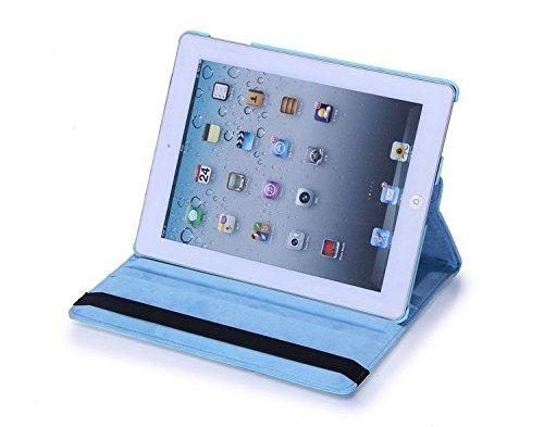 Apple iPad Mini 4Leder Smart Ständer 360Rotate Case Beutel (hellblau)