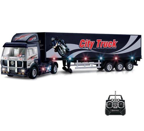 Preisvergleich Produktbild Riesiger RC ferngesteuertes Truck-Modell LKW-Modellbau Auto, Car, Fahrzeug ca.70cm, In Allen Richtungen Steuerbar, Soundeffekte, LED's, Neu