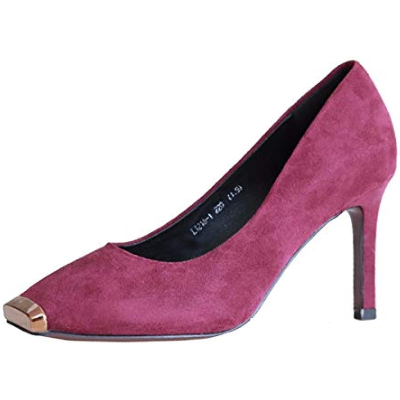KPHY Chaussures Femmes/L'Automne Sexy Métal Tête Carrée Les Chaussures pour Les Femmes Les pour Talons Hauts Talons De... - B07GH3X6RN - 4dcb33