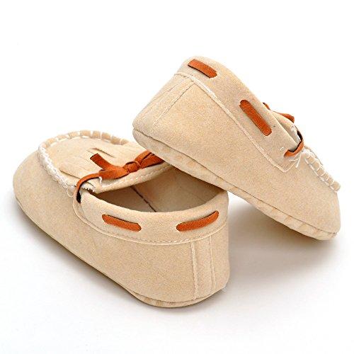 Estamico Baby Mädchen Mokassins Jungen Schuhe Rot Größe 12-18 Monate Beige