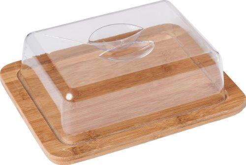 Käseglocke, 25 x 20 x 8 cm, Oberteil aus PS-Kunststoff