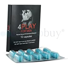 4PlayforMen - Suplemento Para Mejorar El Rendimiento Sexual - Disfruta De Relaciones Sexuales Más Duraderas y Más Placenteras - Sorprende A Tu Pareja Con ...
