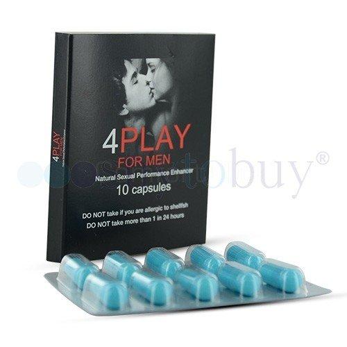 4PlayforMen - Suplemento Para Mejorar El Rendimiento Sexual - Disfruta De Relaciones Sexuales Más Duraderas y Más Placenteras - Sorprende A Tu Pareja Con Una Mayor Duración En El sexo Evitando La Eyaculación Precoz - Mejora Los Niveles De Erección - 10Cápsulas