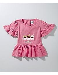 Cuddledoo Cuppycake Pink Top For Baby Girls (9-12 M)