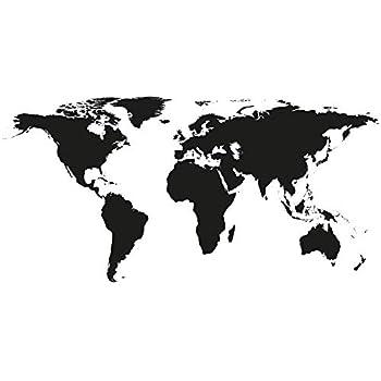 Carte Du Monde Noir Et Blanc.Poster Carte Du Monde Noir Et Blanc Design Unique Traveler